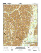 Greenwood Springs Mississippi Current topographic map, 1:24000 scale, 7.5 X 7.5 Minute, Year 2015 from Mississippi Map Store
