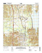 Grenada Mississippi Current topographic map, 1:24000 scale, 7.5 X 7.5 Minute, Year 2015 from Mississippi Map Store