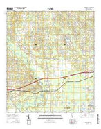 Gulfport NW Mississippi Current topographic map, 1:24000 scale, 7.5 X 7.5 Minute, Year 2015 from Mississippi Map Store