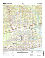 Gulfport North Mississippi Current topographic map, 1:24000 scale, 7.5 X 7.5 Minute, Year 2015 from Mississippi Map Store