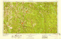 Hattiesburg Mississippi Historical topographic map, 1:250000 scale, 1 X 2 Degree, Year 1958