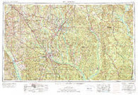 Hattiesburg Mississippi Historical topographic map, 1:250000 scale, 1 X 2 Degree, Year 1953