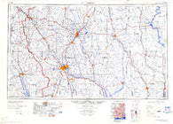 Hattiesburg Mississippi Historical topographic map, 1:250000 scale, 1 X 2 Degree, Year 1984