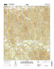 Hermanville Mississippi Current topographic map, 1:24000 scale, 7.5 X 7.5 Minute, Year 2015 from Mississippi Maps Store