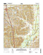Hernando Mississippi Current topographic map, 1:24000 scale, 7.5 X 7.5 Minute, Year 2015 from Mississippi Maps Store