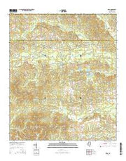 Hero Mississippi Current topographic map, 1:24000 scale, 7.5 X 7.5 Minute, Year 2015 from Mississippi Maps Store