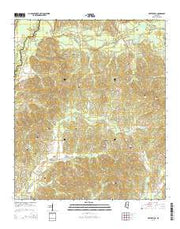 Hesterville Mississippi Current topographic map, 1:24000 scale, 7.5 X 7.5 Minute, Year 2015 from Mississippi Maps Store