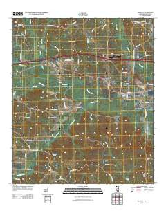 Hickory Mississippi Historical topographic map, 1:24000 scale, 7.5 X 7.5 Minute, Year 2012