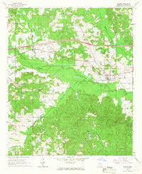 Hickory Mississippi Historical topographic map, 1:24000 scale, 7.5 X 7.5 Minute, Year 1966