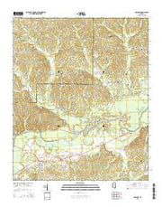 Holcomb Mississippi Current topographic map, 1:24000 scale, 7.5 X 7.5 Minute, Year 2015 from Mississippi Maps Store