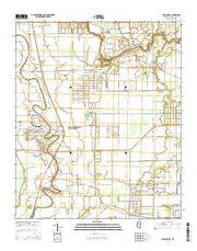 Hollandale Mississippi Current topographic map, 1:24000 scale, 7.5 X 7.5 Minute, Year 2015 from Mississippi Maps Store