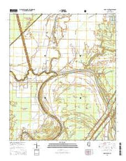 Holly Bluff Mississippi Current topographic map, 1:24000 scale, 7.5 X 7.5 Minute, Year 2015 from Mississippi Maps Store