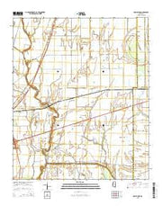 Holly Ridge Mississippi Current topographic map, 1:24000 scale, 7.5 X 7.5 Minute, Year 2015 from Mississippi Maps Store