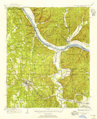 Iuka Mississippi Historical topographic map, 1:62500 scale, 15 X 15 Minute, Year 1911