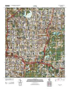 Jackson Mississippi Historical topographic map, 1:24000 scale, 7.5 X 7.5 Minute, Year 2012