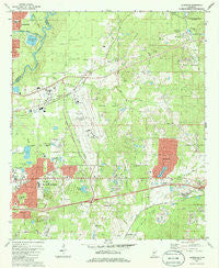 Jackson SE Mississippi Historical topographic map, 1:24000 scale, 7.5 X 7.5 Minute, Year 1980