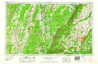 Jackson Mississippi Historical topographic map, 1:250000 scale, 1 X 2 Degree, Year 1961