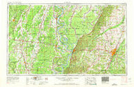 Jackson Mississippi Historical topographic map, 1:250000 scale, 1 X 2 Degree, Year 1962