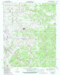 Kendrick Mississippi Historical topographic map, 1:24000 scale, 7.5 X 7.5 Minute, Year 1950