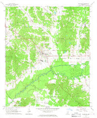Kilmichael Mississippi Historical topographic map, 1:24000 scale, 7.5 X 7.5 Minute, Year 1966