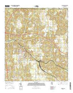 Lucedale Mississippi Current topographic map, 1:24000 scale, 7.5 X 7.5 Minute, Year 2015 from Mississippi Map Store