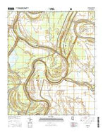 Lucre Mississippi Current topographic map, 1:24000 scale, 7.5 X 7.5 Minute, Year 2015 from Mississippi Map Store