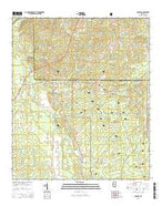 Ludlow Mississippi Current topographic map, 1:24000 scale, 7.5 X 7.5 Minute, Year 2015 from Mississippi Map Store