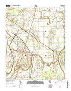 Lula Mississippi Current topographic map, 1:24000 scale, 7.5 X 7.5 Minute, Year 2015 from Mississippi Map Store