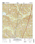 Lumberton Mississippi Current topographic map, 1:24000 scale, 7.5 X 7.5 Minute, Year 2015 from Mississippi Map Store