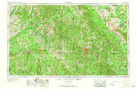 Meridian Mississippi Historical topographic map, 1:250000 scale, 1 X 2 Degree, Year 1965