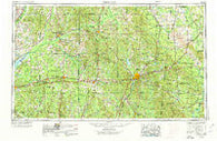 Meridian Mississippi Historical topographic map, 1:250000 scale, 1 X 2 Degree, Year 1953