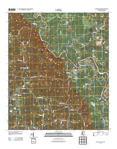 Morgantown Mississippi Historical topographic map, 1:24000 scale, 7.5 X 7.5 Minute, Year 2012