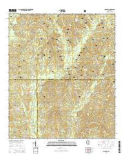 Mulberry Mississippi Current topographic map, 1:24000 scale, 7.5 X 7.5 Minute, Year 2015 from Mississippi Maps Store