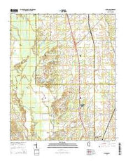 Muldon Mississippi Current topographic map, 1:24000 scale, 7.5 X 7.5 Minute, Year 2015 from Mississippi Maps Store