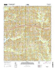 Myrick Mississippi Current topographic map, 1:24000 scale, 7.5 X 7.5 Minute, Year 2015 from Mississippi Maps Store