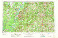 Natchez Mississippi Historical topographic map, 1:250000 scale, 1 X 2 Degree, Year 1953