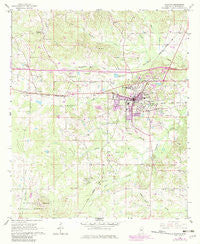 Newton Mississippi Historical topographic map, 1:24000 scale, 7.5 X 7.5 Minute, Year 1966
