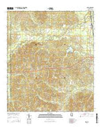 Nola Mississippi Current topographic map, 1:24000 scale, 7.5 X 7.5 Minute, Year 2015 from Mississippi Map Store