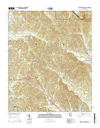 Northeast Pontotoc Mississippi Current topographic map, 1:24000 scale, 7.5 X 7.5 Minute, Year 2015 from Mississippi Map Store