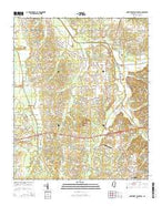 Northwest Pontotoc Mississippi Current topographic map, 1:24000 scale, 7.5 X 7.5 Minute, Year 2015 from Mississippi Map Store