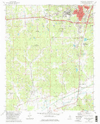 Oxford South Mississippi Historical topographic map, 1:24000 scale, 7.5 X 7.5 Minute, Year 1980