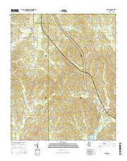 Paden Mississippi Current topographic map, 1:24000 scale, 7.5 X 7.5 Minute, Year 2015 from Mississippi Maps Store