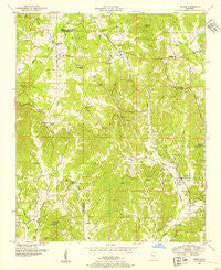 Paden Mississippi Historical topographic map, 1:24000 scale, 7.5 X 7.5 Minute, Year 1950