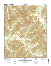 Paris Mississippi Current topographic map, 1:24000 scale, 7.5 X 7.5 Minute, Year 2015 from Mississippi Maps Store