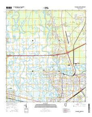 Pascagoula North Mississippi Current topographic map, 1:24000 scale, 7.5 X 7.5 Minute, Year 2015 from Mississippi Maps Store