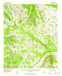 Pheba Mississippi Historical topographic map, 1:62500 scale, 15 X 15 Minute, Year 1959