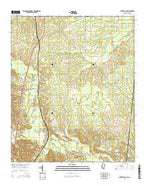 Porterville Mississippi Current topographic map, 1:24000 scale, 7.5 X 7.5 Minute, Year 2015 from Mississippi Map Store