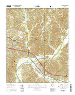 Potts Camp Mississippi Current topographic map, 1:24000 scale, 7.5 X 7.5 Minute, Year 2015 from Mississippi Map Store