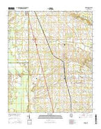 Prairie Mississippi Current topographic map, 1:24000 scale, 7.5 X 7.5 Minute, Year 2015 from Mississippi Map Store