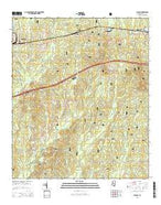 Pulaski Mississippi Current topographic map, 1:24000 scale, 7.5 X 7.5 Minute, Year 2015 from Mississippi Map Store